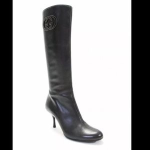 Gucci Stil Pelle S. Cuoio heeled leather Boots